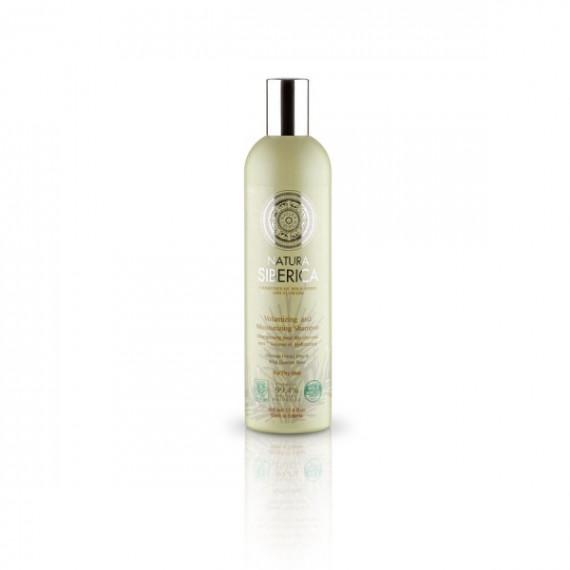 Natura Siberica, Szampon Objętość i nawilżenie, dla włosów suchych, 400 ml