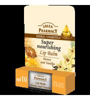 Green Pharmacy, Balsam do ust miód i wanilia SPF 10, 3,6 g