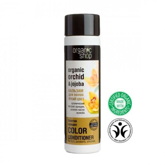 """Organic Shop, Balsam do włosów OŻYWIENIE KOLORU """"ZŁOTA ORCHIDEA"""", 280 ml"""