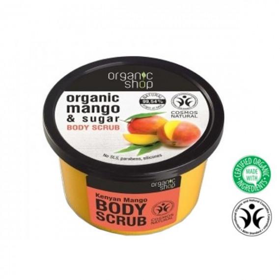 Organic Shop, Organiczny scrub do ciała MANGO & SUGAR, 250 ml