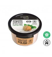 Organic Shop, Organiczny peeling do ciała SWEET ALMOND & CANE SUGAR, 250 ml