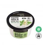 """Organic Shop, Masło do ciała """"Biała Herbata"""" - masło shea, ekstrakt chińskiej herbaty, 250 ml"""