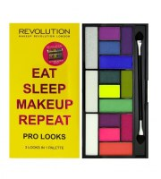 Makeup Revolution, Pro looks paleta 15 cieni, Eat Sleep Makeup Repeat, 13 g