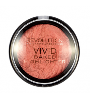 Makeup Revolution, Rozświetlacz Vivid Baked Highlighter, Rose Gold Lights, 7,5 g