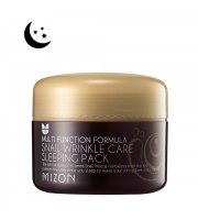 Mizon, Snail Wrinkle Care Sleeping Pack, Przeciwzmarszczkowy krem/maska na noc z śluzem ślimaka, 80 ml