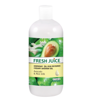 Fresh Juice, Żel pod prysznic Avocado & Rice Milk, 500 ml