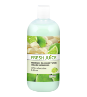 Fresh Juice, Żel pod prysznic White chocolate & Lime, 500 ml