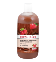 Fresh Juice, Żel pod prysznic Chocolate & Strawberry, 500 ml