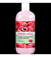 Fresh Juice, Żel pod prysznic Lychee & Raspberry, 500 ml