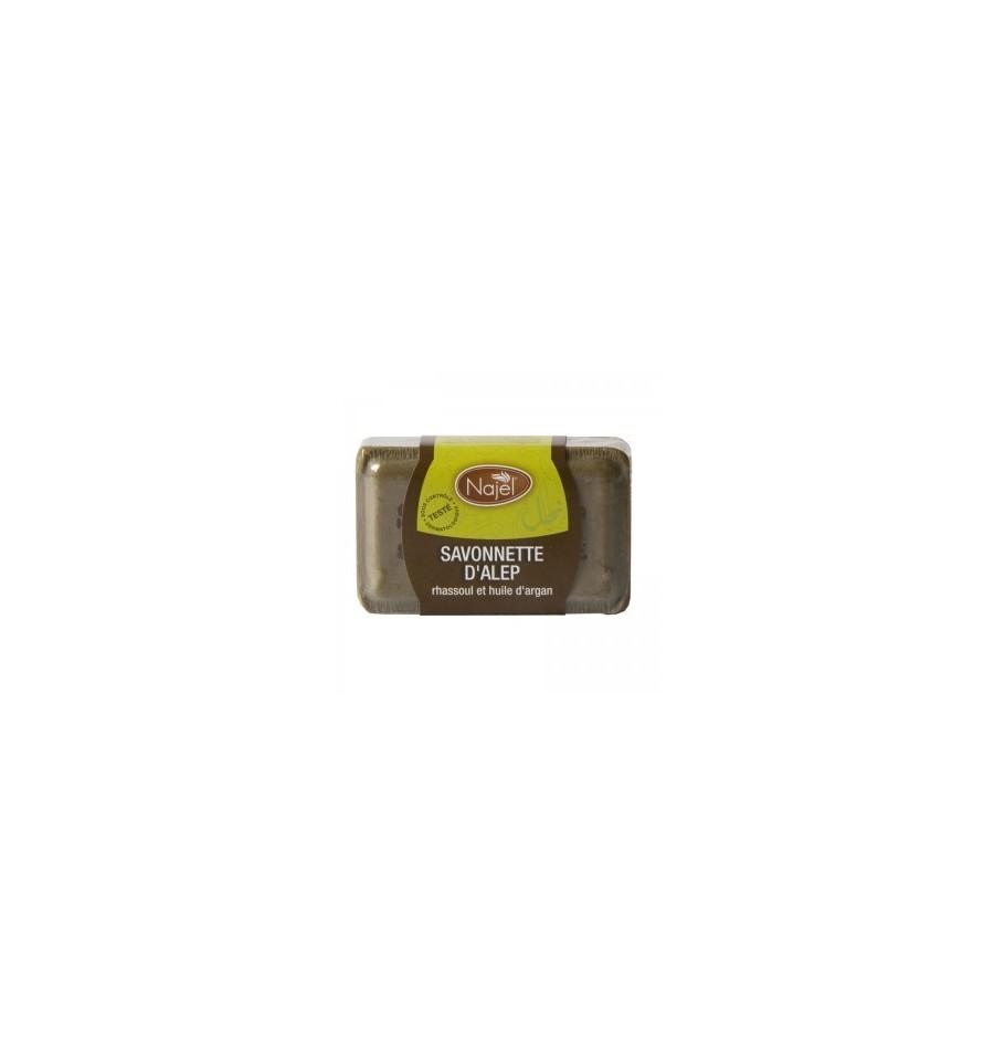 Najel, Mydło Aleppo z glinką Ghassoul i olejem arganowym, 100 g