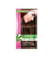 Marion, Szampon koloryzujący w saszetce, Czekoladowy brąz - nr 63, 40 ml