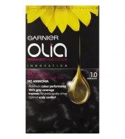 Garnier, Farba do włosów OLIA, 1.0 - Głęboka czerń