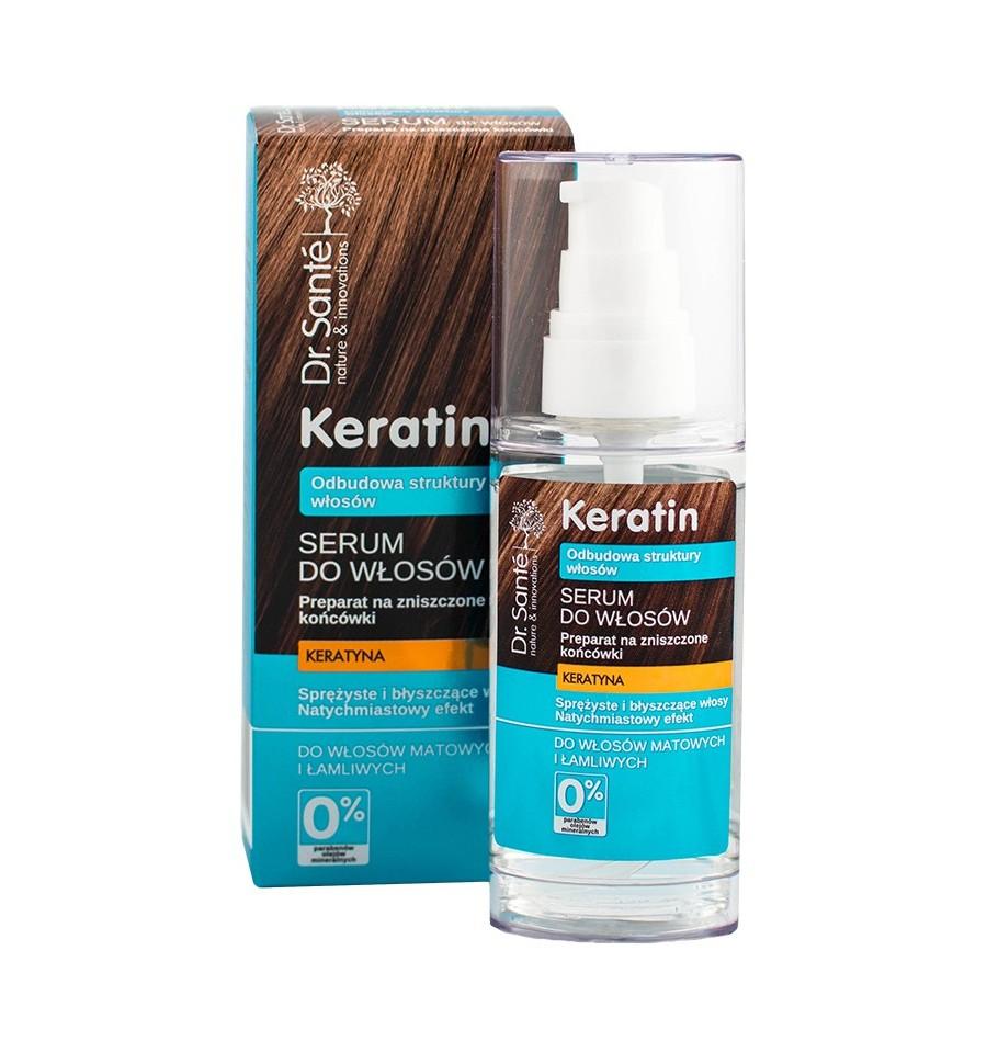 Dr. Sante, KERATIN - Serum do włosów z keratyną do włosów matowych i łamliwych, 50 ml