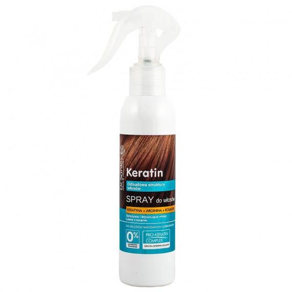 Dr. Sante, KERATIN - Spray do włosów z keratyną, argininą i kolagenem do włosów matowych i łamliwych, 150 ml