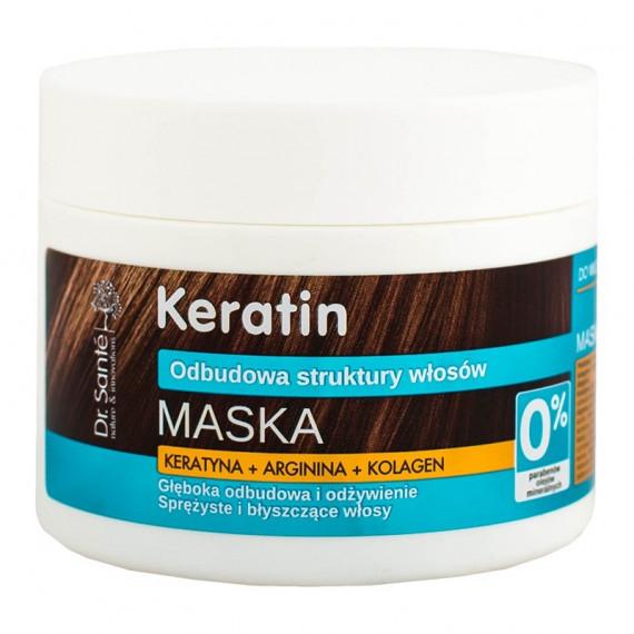 Dr. Sante, KERATIN - Maska do włosów z keratyną do włosów matowych i łamliwych, 300 ml