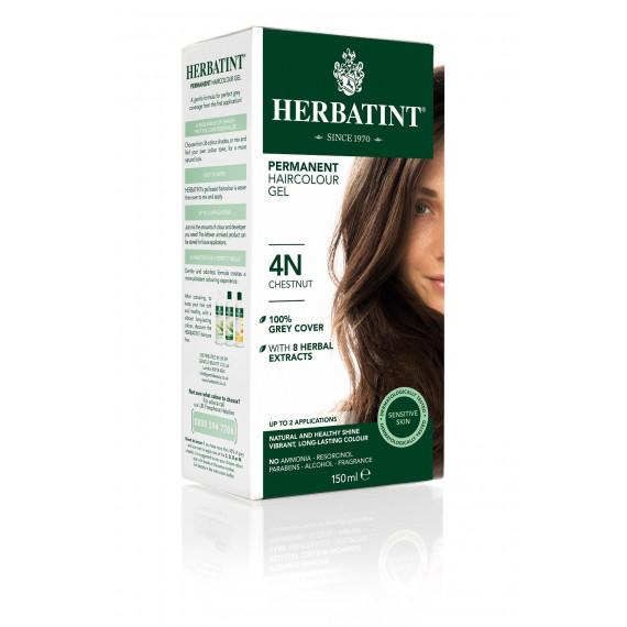 Herbatint, Trwała farba do włosów, 4N KASZTAN, seria naturalna