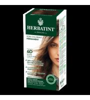 Herbatint, Trwała farba do włosów, 6D CIEMNY ZŁOTY BLOND seria złota