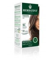 Herbatint, Trwała farba do włosów, 5C JASNY POPIELATY KASZTAN seria popielata
