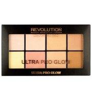 Makeup Revolution, ULTRA PRO GLOW, Paleta rozświetlaczy, 20 g