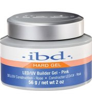 IBD, Builder Gel Clear LED/UV pink, Żel budujący różowy, 14 g