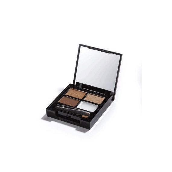 Makeup Revolution, Focus & Fix Zestaw do Brwi Medium Dark