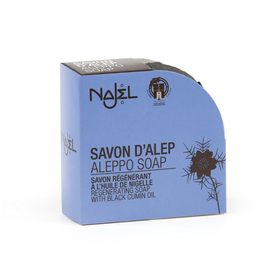 Najel, Mydło Aleppo z olejem czarnuszki, 100 g