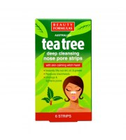 Beauty Formulas, Tea Tree, Głęboko oczyszczające paski na nos, 6 szt