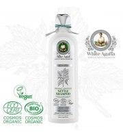 White Agafia, Organiczny szampon pokrzywowy do wszystkich typów włosów – miękkość i blask, 280 ml