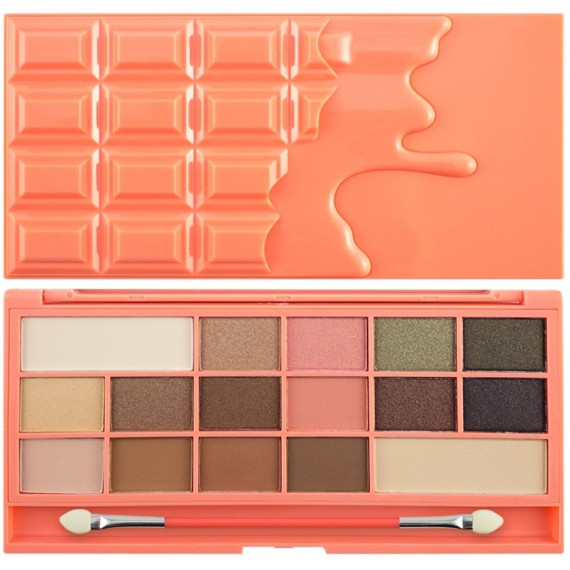 Makeup Revolution, Chocolate and Peaches, Paleta cieni do powiek, 22 g