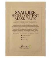 Benton, Snail Bee High Content Mask Pack, Maska ze śluzem ślimaka i jadem pszczelim, 20 g