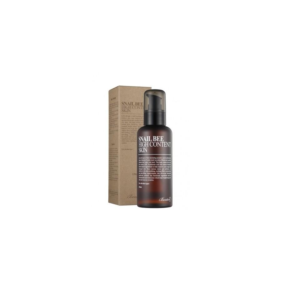 Benton, Snail Bee High Content Skin, Tonik z filtratem ze śluzu ślimaka i hydrolatem z liści zielonej herbaty, 150 ml