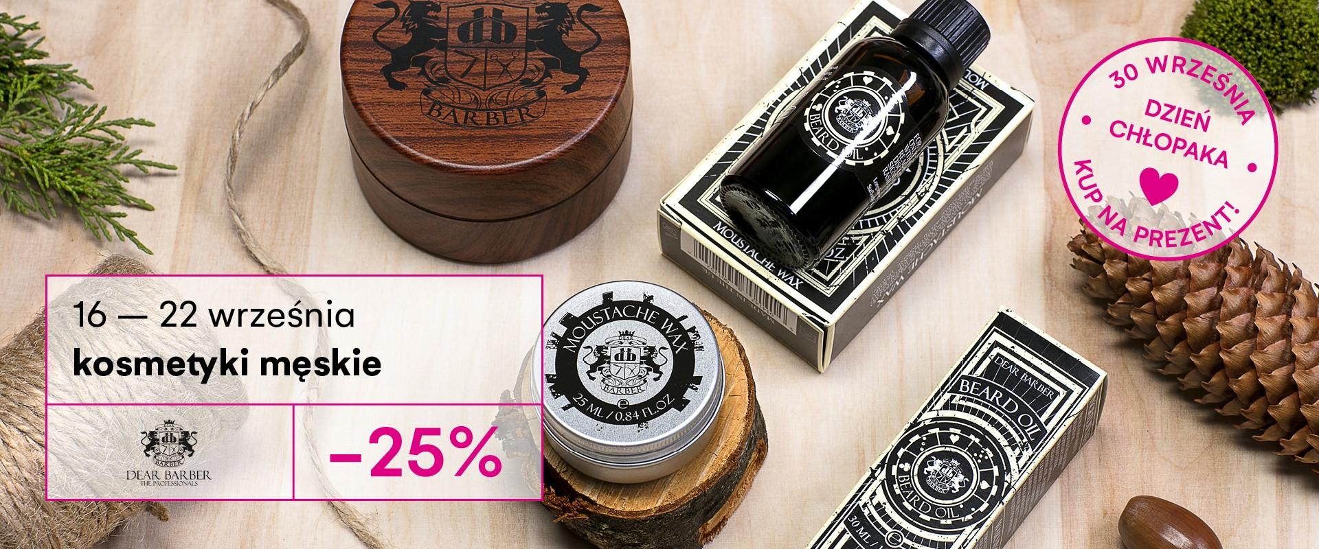 Kosmetyki męskie Dear Barber -25%